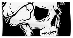 Retro Skull Bath Towel