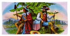 Hand Towel featuring the photograph Retro Tobacco 1885 by Padre Art