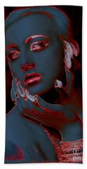 Retro Beauty Hand Towel by Irma BACKELANT GALLERIES