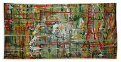 Bath Towel featuring the painting Revelation by Jacqueline Athmann