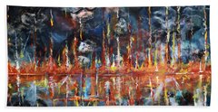 Hand Towel featuring the painting Revelations 20_ 14-15 by Gary Smith