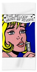 Reverie Bath Towel by Roy Lichtenstein