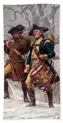 Revolutionary War Soldiers Marching Bath Towel