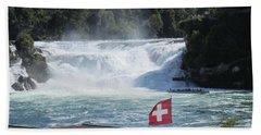 Rhine Falls In Switzerland Hand Towel