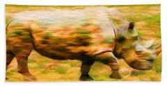 Rhinocerace Hand Towel