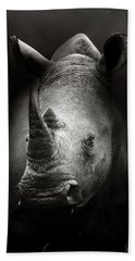 Rhinoceros Portrait Bath Towel