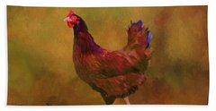 Rhode Island Red Hen Hand Towel