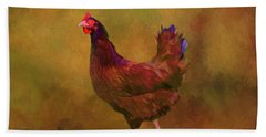 Rhode Island Red Hen Hand Towel by Sandi OReilly