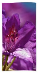Rhododendron  Hand Towel by Stephen Melia