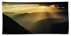 Rhodope Mountains Sunset3 Bath Towel