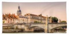 Bridge Over The Rhone River, France Bath Towel