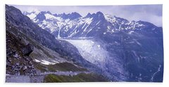 Rhone Glacier, Switzerland Bath Towel