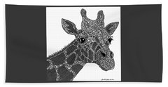 Rhymes With Giraffe Hand Towel by Laura McLendon