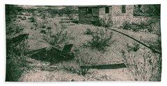 Hand Towel featuring the digital art Rhyolite Nevada Ghost Town Shack by Bartz Johnson