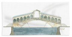 Rialto Bridge Venice Bath Towel