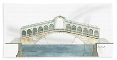 Rialto Bridge Venice Hand Towel