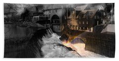 Rainbow In The Mist Bath Towel by Sherman Perry