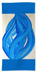 Ribbons Of Love-blue Bath Towel