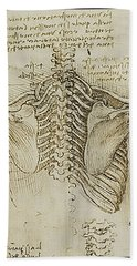 Hand Towel featuring the painting Ribcage Main by James Christopher Hill