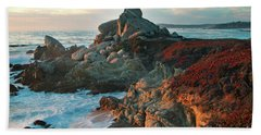 Ribera Beach Sunset Carmel California Bath Towel