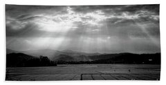 Rice Field Rays  Bath Towel by Chuck Kuhn