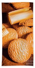 Rich Buttery Shortbread Biscuits Hand Towel