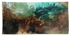 Rich Earth Tones Abstract Not For The Faint Of Heart Hand Towel by Patricia Lintner