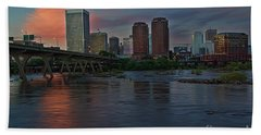 Richmond Dusk Skyline Bath Towel