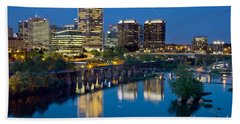Richmond Skyline Helo Trail Bath Towel
