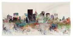 Richmond Virginia Skyline Hand Towel