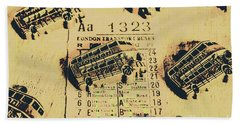Ride Down Memory Lane Hand Towel