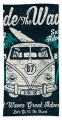Ride The Waves Hand Towel