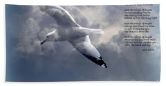 Ride The Wings Of Angels Bath Towel