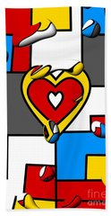 Right In The Heart By Nico Bielow Bath Towel