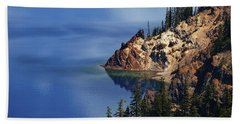 Right Side Of Crater Lake Oregon Bath Towel
