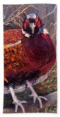 Ring Neck Pheasant Hand Towel