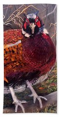 Ring Neck Pheasant Bath Towel