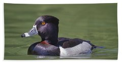 Ring-necked Duck Profile Bath Towel