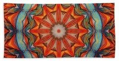 Hand Towel featuring the drawing Ring Of Fire by Mo T