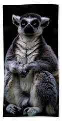Bath Towel featuring the photograph Ring Tailed Lemur by Chris Lord