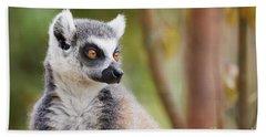 Ring-tailed Lemur Closeup Bath Towel
