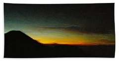 Rinjani Sunset Bath Towel