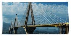 Rio-andirio Bridge On A Sunny Day Bath Towel