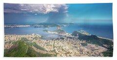 Rio De Janeiro Hand Towel by Andrew Matwijec