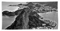 Rio De Janeiro - Sugar Loaf, Corcovado And Baia De Guanabara Hand Towel