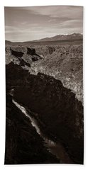 Bath Towel featuring the photograph Rio Grande River Taos by Marilyn Hunt