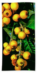 Ripe Loquats Bath Towel by Gina O'Brien