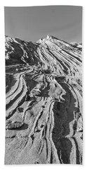 Rippled Sandstone At Waterhole Canyon Bath Towel