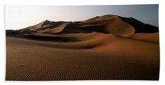 Ripples In The Sand Hand Towel by Ralph A  Ledergerber-Photography