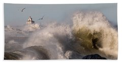 Rise Above The Turbulence Bath Towel by Everet Regal